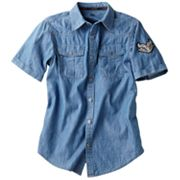 Rock and Republic Woven Denim Button-Down Shirt - Boys 8-20