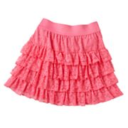 SO Tiered Lace Skirt - Girls Plus