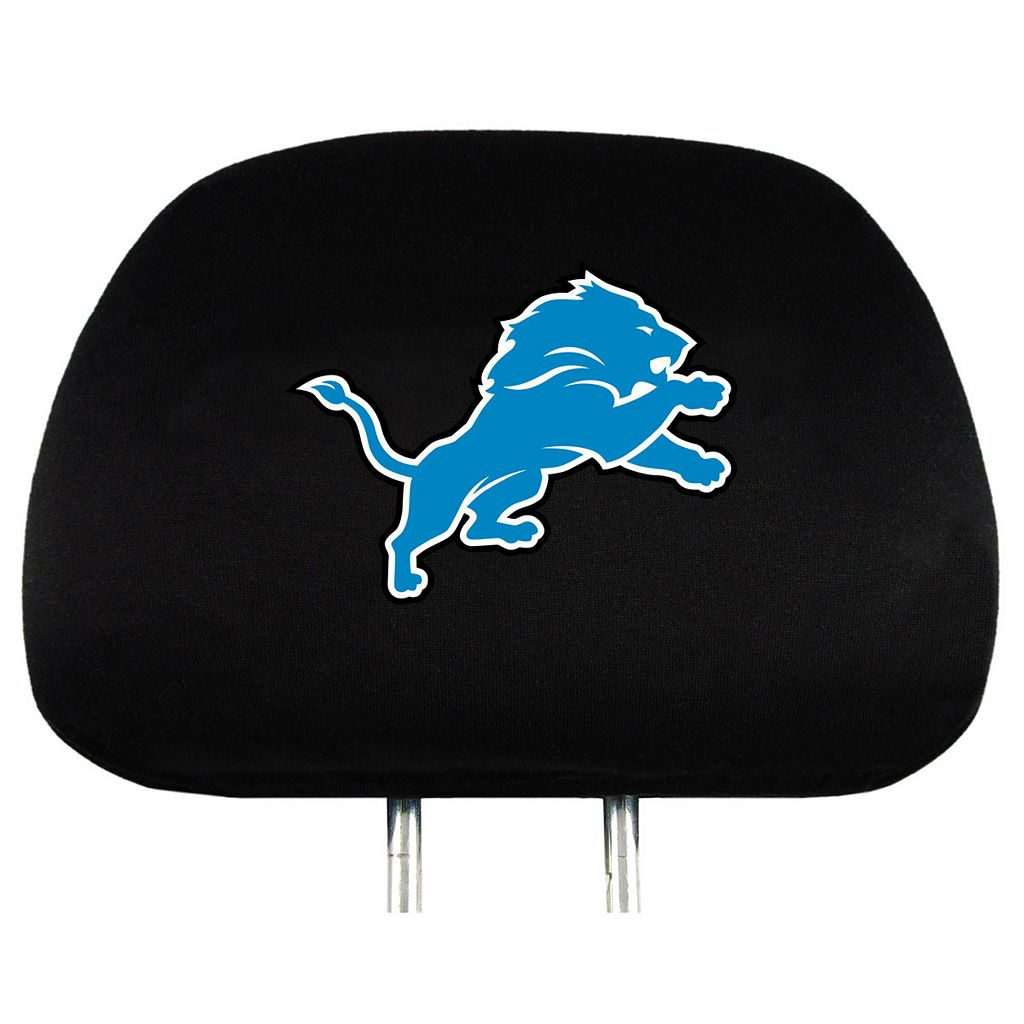 Detroit Lions Head Rest Covers