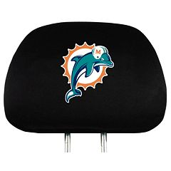 Miami Dolphins Head Rest Covers