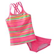 Nike Striped 2-pc. Tankini Set - Girls 7-16