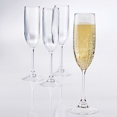 Wine Enthusiast PolyCarb 4-pc. Champagne Flute Set