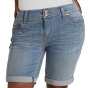 Levi's Cuffed Denim Bermuda Shorts - Women's Plus