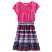 Mudd Abstract Smocked Dress - Girls 7-16