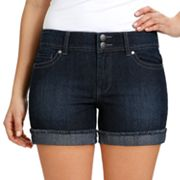 daisy fuentes Cuffed Denim Shorts - Petite