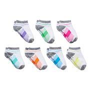 Girls 4-16 SO® 7 pkStriped No-Show Socks