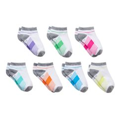 Girls 4-16 SO® 7 pkStriped No-Show Socks