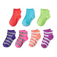 Girls SO® 7 pkQuarter Cut Socks