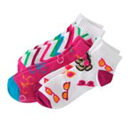 SONOMA life + style 3-pk. Chevron and Monkey Low-Cut Socks - Girls