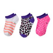SONOMA life + style 3-pk. Animal No-Show Socks - Girls