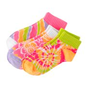 SONOMA life + style 3-pk. Tie-Dye Low-Cut Socks - Girls