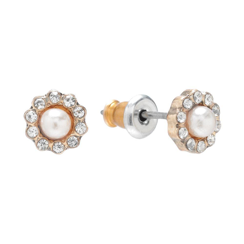 LC Lauren Conrad Flower Stud Earrings