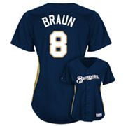 Majestic Milwaukee Brewers Ryan Braun Batting Practice Jersey - Women's