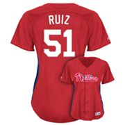 Majestic Philadelphia Phillies Carlos Ruiz Batting Practice Jersey - Women's