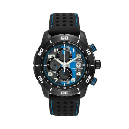 Citizen Eco-Drive Primo Stainless Steel Black Ion Chronograph Watch - CA0467-03E - Men