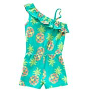 Jumping Beans Pineapple Heart Asymmetrical Romper - Baby