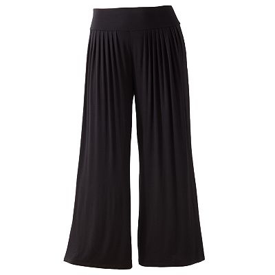 Jennifer Lopez Pleated Wide-Leg Palazzo Pants - Women's Plus