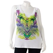 Jennifer Lopez Leaf Mock-Layer Top - Women's Plus