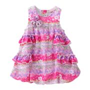 Little Lass Floral Bubble Dress Creeper - Baby