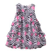 Little Lass Zebra Bubble Dress Creeper - Baby