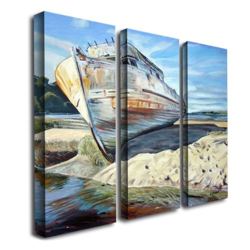Inverness Boat 3-pc. Wall Art Set by Colleen Proppe