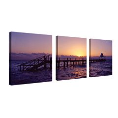'Seascape' 3-pc. Wall Art Set by Preston