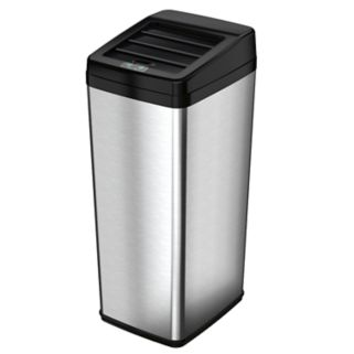 iTouchless 14-Gallon Stainless Steel Automatic Sensor Touchless Trash Can