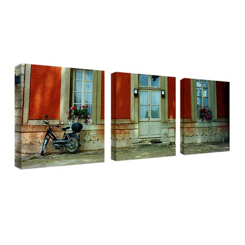 """Scooter in Versailles"" 3-pc. Wall Art Set by Preston"