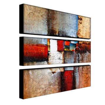 3-pc. ''Cube Abstract VI'' Wall Art Set