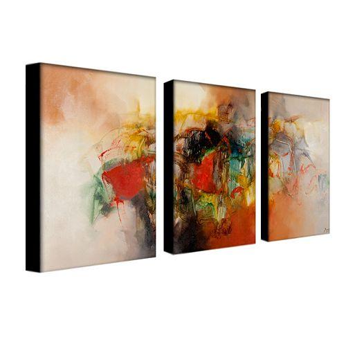 3-pc. ''Abstract VI'' Wall Art Set