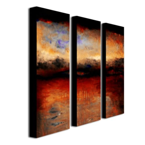 3-pc. ''Red Skies at Night'' Wall Art Set