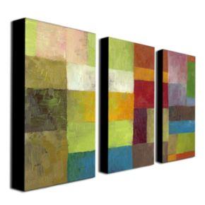 3-pc. ''Abstract Color Panels IV'' Wall Art Set