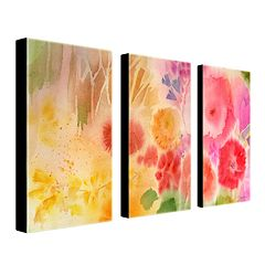 'Wood Flower' 3-pc. Wall Art Set by Sheila Golden