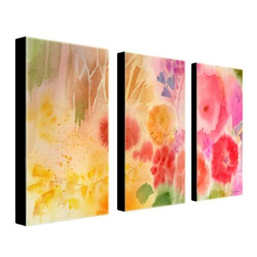 Wood Flower 3-pc. Wall Art Set by Sheila Golden