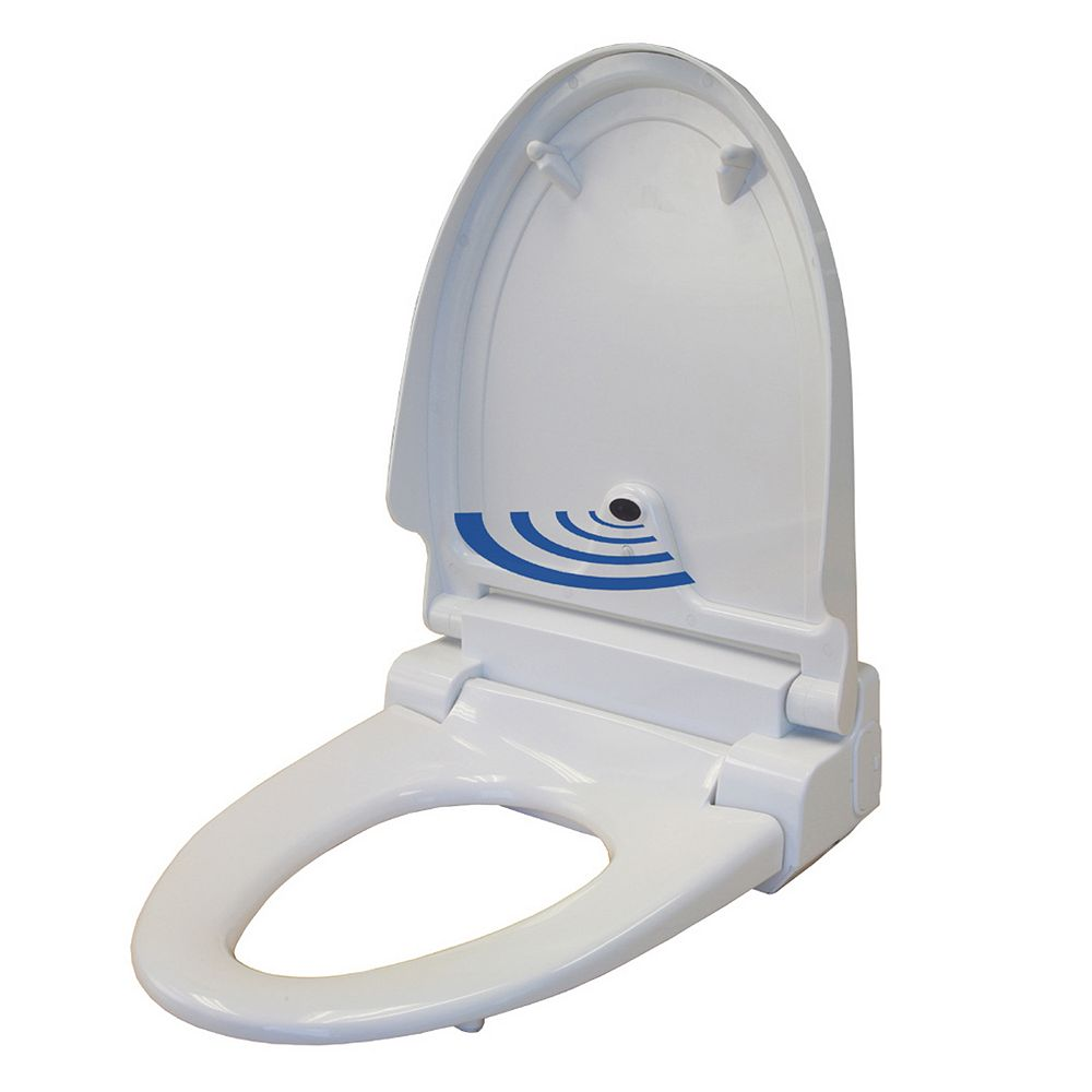 Toilet Seat. iTouchless Elongated Touch Free Sensor Controlled Automatic Toilet Seat