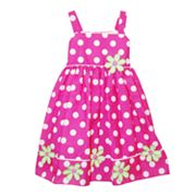 Blueberi Boulevard Polka-Dot Tiered Sundress - Baby