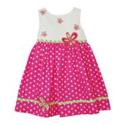 Blueberi Boulevard Butterfly Dotted Sundress - Baby
