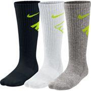 Boys Nike 3 pkCrew Performance Socks