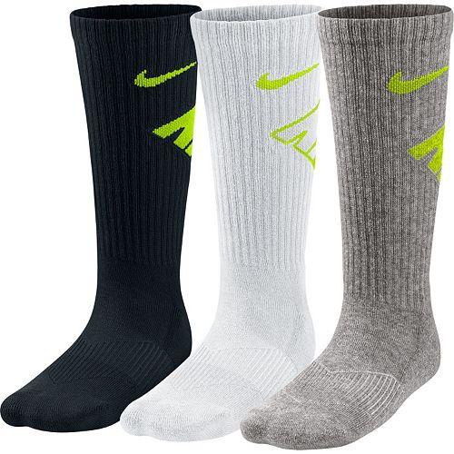 Boys Nike 3-pk. Crew Performance Socks
