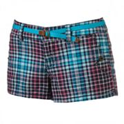 Unionbay Plaid Shortie Shorts - Juniors