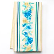 Croft and Barrow Shell Striped Kitchen Towel