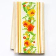Croft and Barrow Hibiscus Striped Kitchen Towel