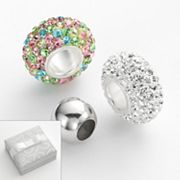 Individuality Beads Sterling Silver Multicolored Crystal and Round Spacer Bead Set
