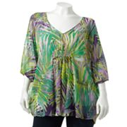 Jennifer Lopez Leaf Embellished Poncho Top - Women's Plus