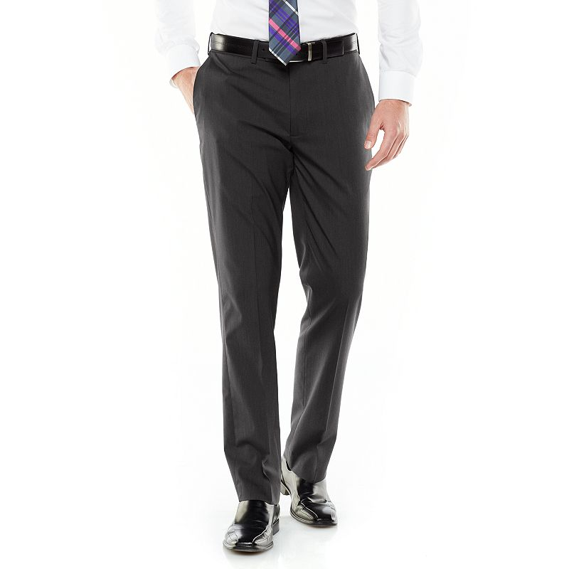 Axist Ultra Series Slim-Fit Solid Flat-Front Micro-Cord Dress Pants