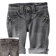 Hydraulic Embellished Denim Bermuda Shorts - Girls 7-16