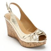 Apt. 9 Peep-Toe Platform Wedge Sandals - Women