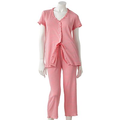 Chaps Fresh Meadows Ruffle Pajama Set