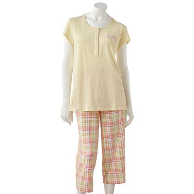 Chaps Fresh Meadows Plaid Pajama Set