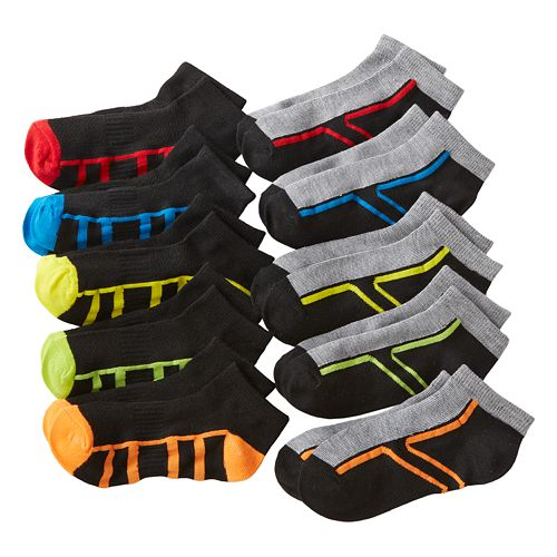 Boys Tek Gear® 10-pk. Low-Cut Performance Socks